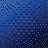 Abstract blue textured convex background.