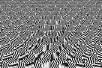Abstract geometric background. Op art pattern.