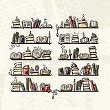 Book shelves, sketch for your design