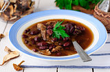 Wild Mushroom and Kidney Bean Soup