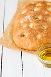 Roasted Garlic Focaccia with Olive Oil