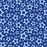 Blue stars seamless texture vector