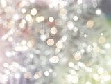Christmas bokeh lights and stars