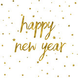 Gold effect Happy New Year background