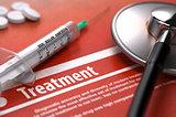 Treatment. Medical Concept.