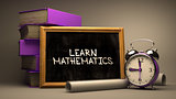Learn Mathematics - Chalkboard with Hand Drawn Text.