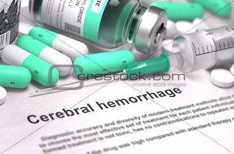 Cerebral Hemorrhage. Medical Concept.
