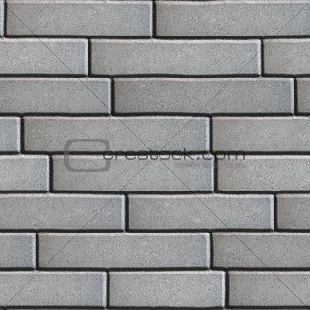 Gray Pavement in the form of Brickwork.