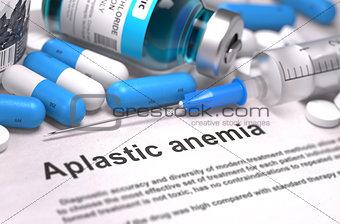 Aplastic Anemia Diagnosis. Medical Concept.