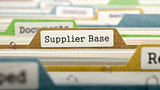 Supplier Base Concept on File Label.