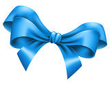 Big blue bow