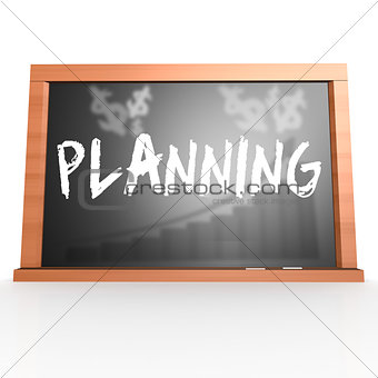 Bllack board with planning word