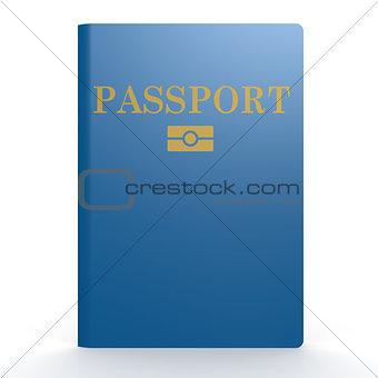 Blue passport book