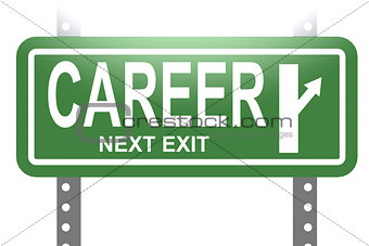 Career green sign board isolated