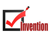 Check mark with invention word