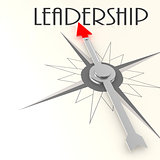 Compass with leadership word