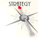 Compass with strategy word