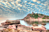 Landscape of the coast of Sardinia, Porticciolo