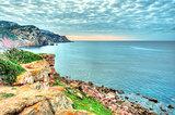 Landscape of the coast of Sardinia, Porticciolo