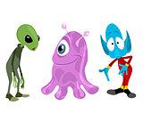Three aliens set