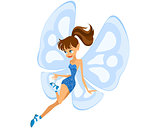 Blue young fairy