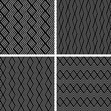 Seamless zigzag patterns set.