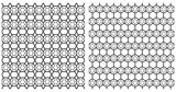 Seamless hexagons patterns. Latticed textures.