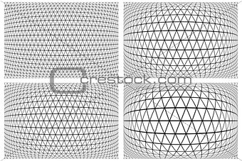 3D latticed patterns set.