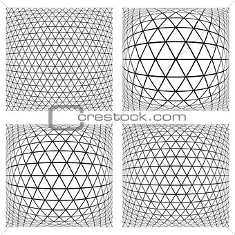 3D geometric latticed textures.