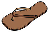 Leather low sandal