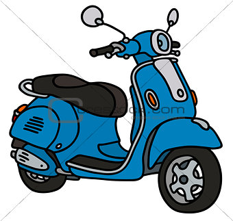 Classic blue scooter