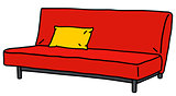 Simple red sofa
