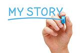 My Story Blue Marker