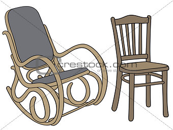 Classic rocker and chair