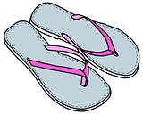 Light low sandals