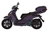 Dark scooter