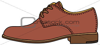 Classic leather men's shoes