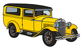 Vintage yellow station wagon