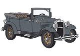 Vintage gray cabriolet