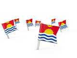 Square pins with flag of kiribati