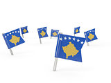 Square pins with flag of kosovo