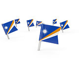 Square pins with flag of marshall islands