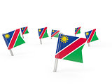 Square pins with flag of namibia