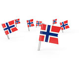 Square pins with flag of norway