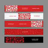 Banners set, floral design