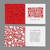 Greeting card, floral design