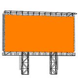 Silhouette of Steel structure billboard. Vector  illustration.