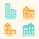 Real Estate vector  icons set.
