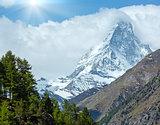 Summer Matterhorn mountain (Alps)