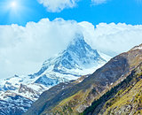 Summer Matterhorn mountain (Alps)